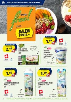 Angebote von Milch in Aldi