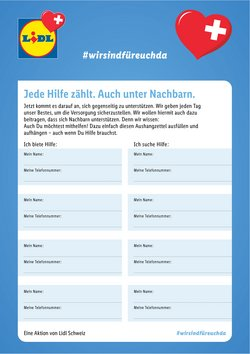 Lidl Katalog in Zürich ( Mehr als 30 Tage )