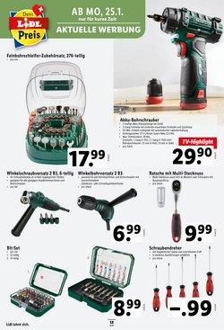 Angebote von Werkzeuge in Lidl