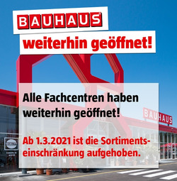Bauhaus Coupon in Bern ( Läuft heute ab )