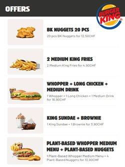Angebote von Restaurants im Burger King Prospekt in Zürich ( 9 Tage übrig )