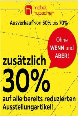 Angebote vonMöbel Hubacher im Möbel Hubacher Prospekt ( 2 Tage übrig)