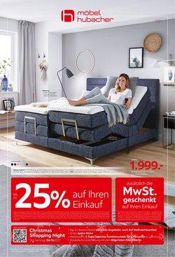 Angebote vonMöbel Hubacher im Möbel Hubacher Prospekt ( Läuft morgen ab)