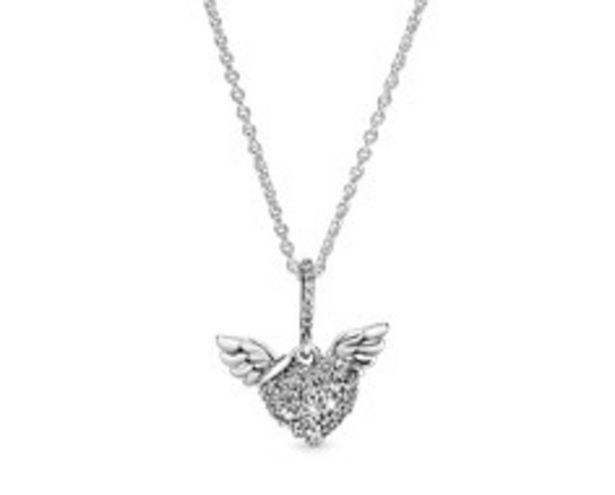 Pavé-Herz & Engelsflügel Halskette für €99