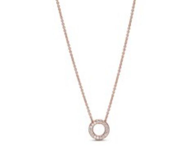 Pandora Logo Pavé-Kreis Halskette für €169