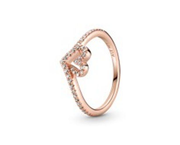 Funkelnder Wishbone Herz Ring für €75