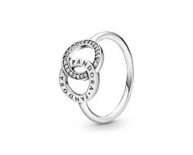 Verschlungene Kreise Pandora Logo und Funkelnder Ring für €59