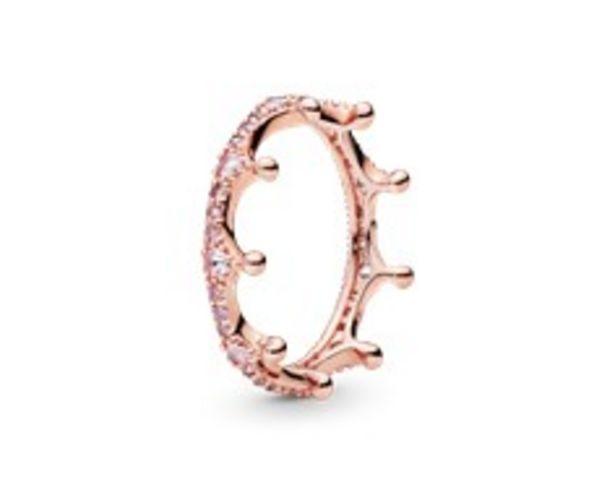 Rosafarbene Funkelnde Krone Ring für €109