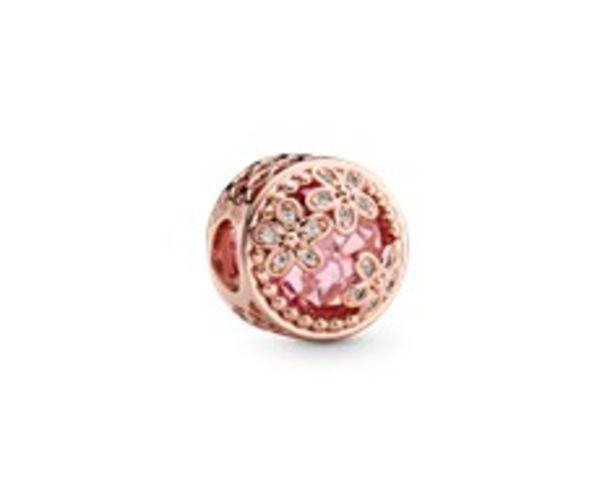 Funkelndes Rosafarbenes Gänseblümchen Charm für €125