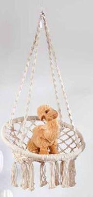 DREAM Kinderhängestuhl Weiss H 110 cm; Ø 50 cm; Ø 30 cm  für €45