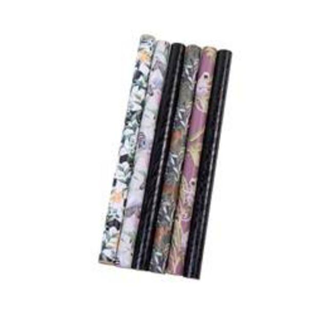 TANZANIA Papier cadeau 6 motifs Larg. 50 x Long. 300 cm für €2,4