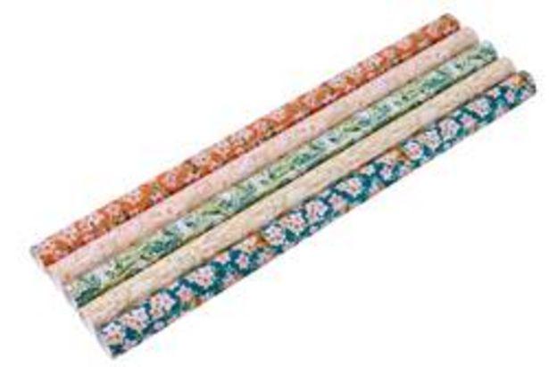 TAMIL Papier cadeau 5 motifs diverses couleurs Larg. 70 x Long. 300 cm für €2,4